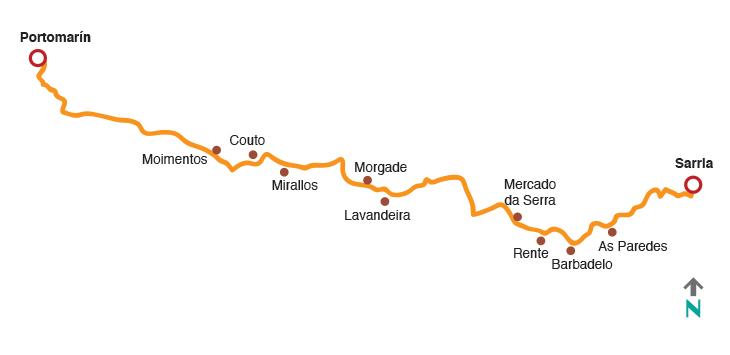 Camino de santiago etapa 3 de sarria a portomar n for Ruta del mueble sarria